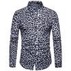 GBTIGER / Camisa de manga larga con estampado de leopardo