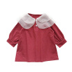 Ardorlove / Autumn Casual Fashion Baby Girls Dress Long Sleeve Mesh Collar Design  Princess Pageant Dresses