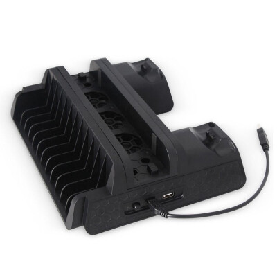 Stand cooler vertical cooling fan stand dual controller charger for ps4ps4 slimps4 pro console