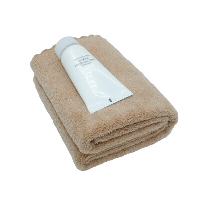 High quality solid color microfiber fabric coral velvet towel 35 75cm beach bath large thick absorbent towel gift