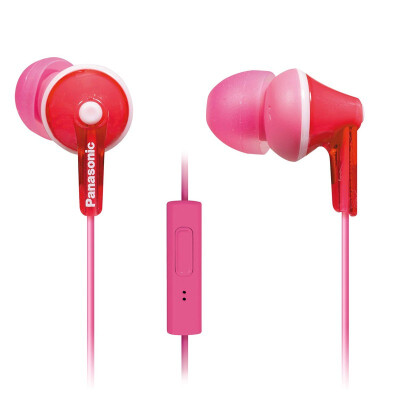 ErgoFit Earbud Headphones with Microphone&Call Controller Compatible with iPhone Android&Blackberry - RP-TCM125-K - In-Ea