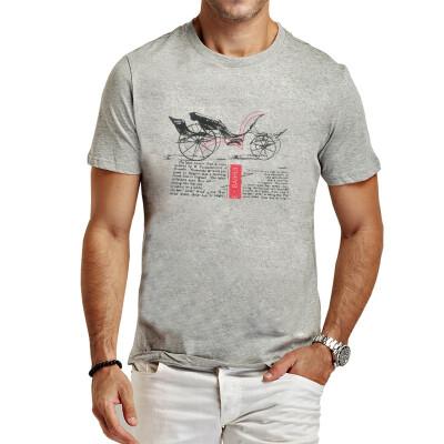 E-BAIHUI new summer style t shirt Print T-Shirt Men cotton T Shirt Fashion man T Shirts Casual brand Clothing fitness Tshirt T005