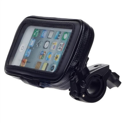 m-05 motorcycle bicycle water resistant 4 port holder stand for gps u00a8c black for iphone 5s