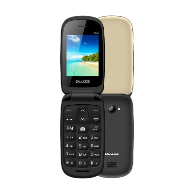 PLUZZ P523 Feature Phone Flip Keyboard Phone Portable Dual SIM 24 Inch FM 2G GSM 750mAh MP3 MP4 LED Flashlight