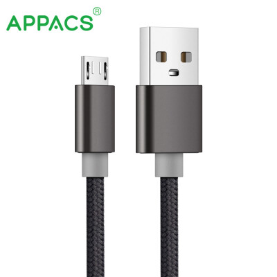 APPACS 5V21A Micro USB Cable Fast Charging Mobile Phone USB Charger Cable 1M Data Sync Cable for Samsung HTC LG Android