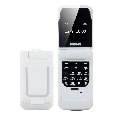 LONG-CZ J9 BT Mini Flip Feature Phone 066-inch 64MB Big Speaker Loud Volume Voice Changer Phonebook Call SMS Alarm SOS Multilangu