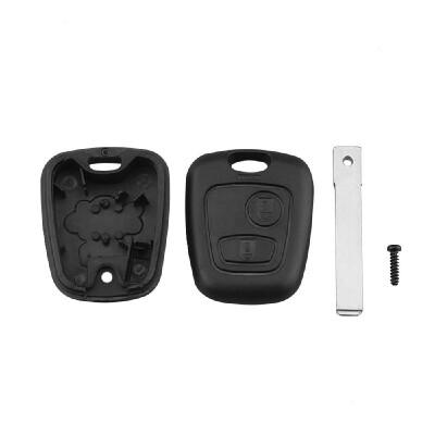 Remote Key Case for Citroen C1 C2 C3 Pluriel C4 C5 C8 Xsara Picasso Fob 2 Button