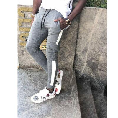 SUNSIOM Mens Sport Pants Long Trousers Tracksuit Gym Fitness Workout Joggers Sweatpants