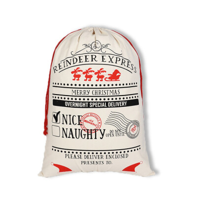 Fashion Merry Christmas Elk Printing Bags Drawstring Backpack Candy Bag Satchel Rucksack Bundle Pocket Drawstring Storage Bag