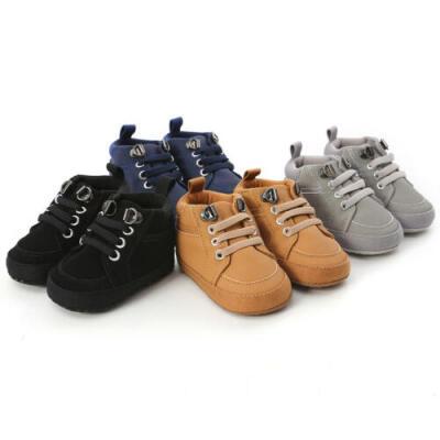 AU Baby Boy Girl Newborn Soft Soles Leather Crib Shoes Prewalker Unisex Shoes