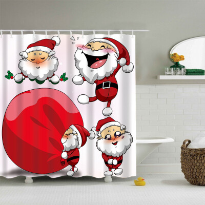 〖Follure〗Christmas Gift Boxes In Snow Bathroom Shower Curtain Waterproof Fabric &12 Hooks