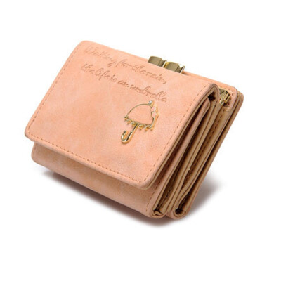 Tailored Women Umbrella Leather Wallet Button Clutch Purse Girl Short Handbag Bag BG