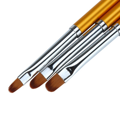 Toponeto 3pcsNail Art UV Gel Polish Design Dot Painting Detailing Pen Brushes Tool Set