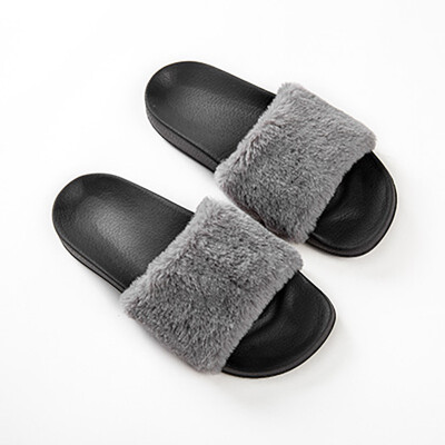 FSD wool slippers ladies new fashion Korean home indoor&outdoor wear flat with thick bottom 13151