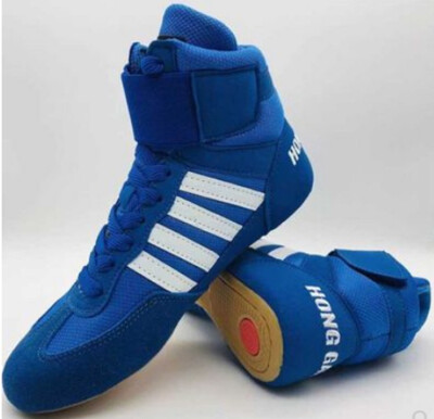 Four bar wrestling shoe boxing shoes Sanda shoes fighting fight real shoes squat shoes hard shoes men&women