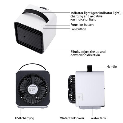 Portable Handheld Office Negative Ion Fan Mini Air Cooler USB Cooling Fans
