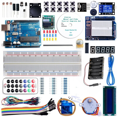 UNO R3 Project Advanced Starter Kit with Tutorial for Arduino