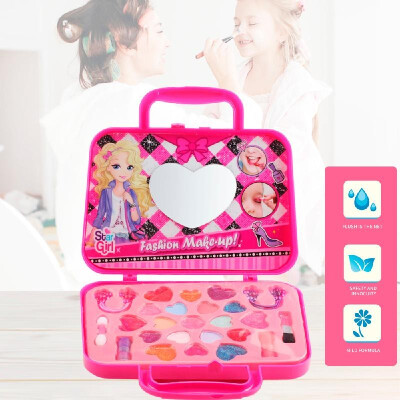 Dress-Up Toy Makeup Set Pretend Play Girls Cosmetics Kit Environmental Toys Beauty Safety Toy for Kids