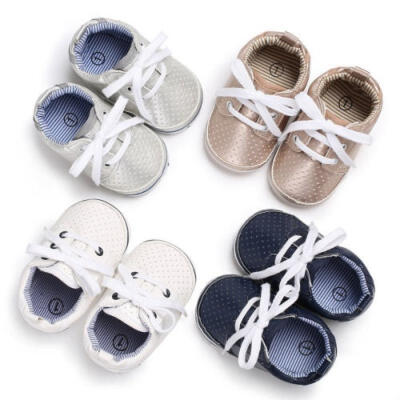 Soft Sole Crib Shoes Infant Toddler Baby Boy Girl Sneaker Newborn to 0-18Months