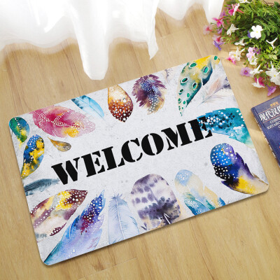 Toponeto Letter Funny Welcome Home Entrance Floor Rug Non-slip Doormat Outdoor Mat