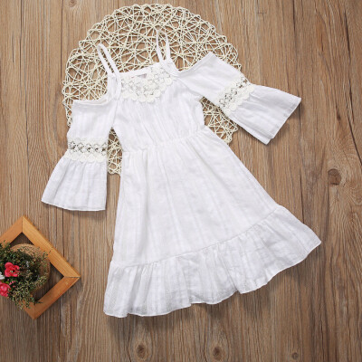 Summer Toddler Kids Baby Girls Lace Dress Princess Party Pageant Tutu Dresses