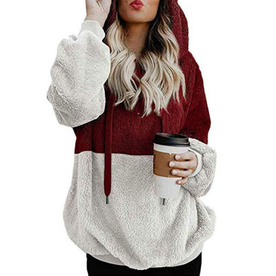 Fashion Print Sweatshirts Pullover Women Casual Hooded Warm Tops Lady Sweatshirt Hoodies