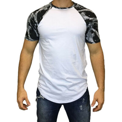 Mens O Neck T-shirt Muscle Tee Slim Fit Short Sleeve Casual Top Shirt Blouse