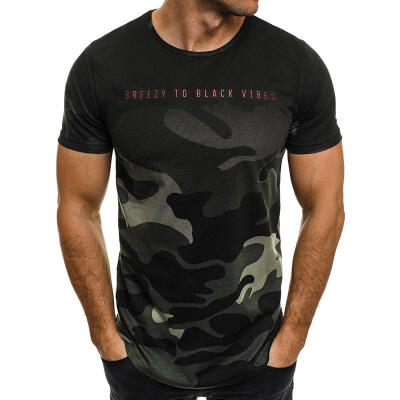 Summer New Printing Mens Short-sleeved T-shirt Casual O-neck T-shirt Chic Fashion Mens Clothing Tees