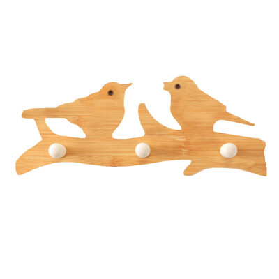 〖Follure〗Cute Wooden Wall-Mounted Sticky Hanging Storage Organizers Hanger Holder Hook