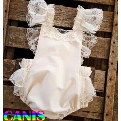 Newborn Baby Girl Summer Lace Ruffle Bodysuit Romper Jumpsuit Sunsuit Clothes