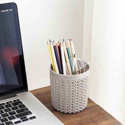 〖Follure〗Creative Simple Hollow Multi-functional Plastic Office Storage Tube