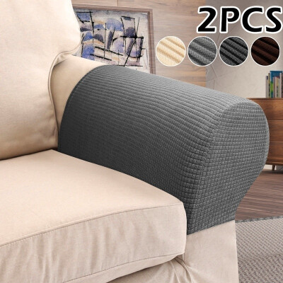 2Pcs Elastic Sofa Armrest Cover Washable Retractable Sofa Armrest Protection Parts Set Sliding Sleeve Protector