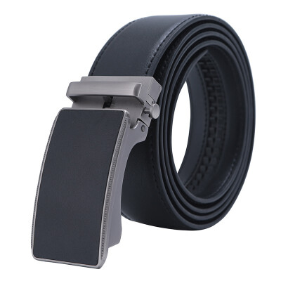 Mens Automatic Buckle Genuine Leather Mens Ratchet Holeless Belt Business High Quality Mens Real Belt for Pants