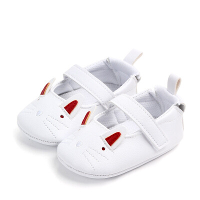 Baby Shoes for Girl Boy PU Shoes Toddler Soft Soled First Walkers Breathable Cartoon Print Anti-Slip