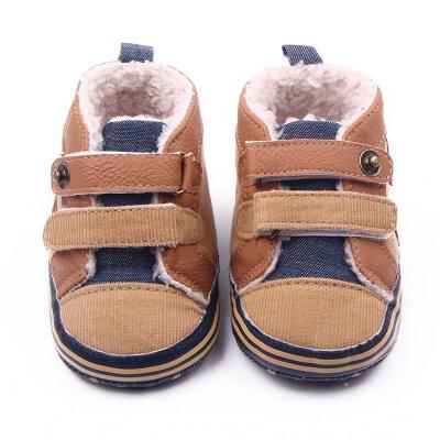 Fashion Winter Newborn Baby Boys Shoes Warm First Walker Infants Boys Antislip Boots Children Shoes
