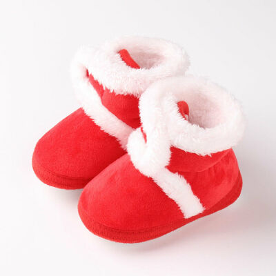 Baby Girl Boy Snow Boots Winter Booties Infant Toddler Newborn Crib Shoes