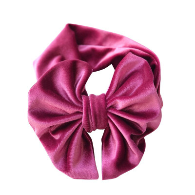 Big Bow Headband For Girls Clothing Accessories Large Hair Bows Elastic Turban Head Wraps Kids Top Knot Hairband