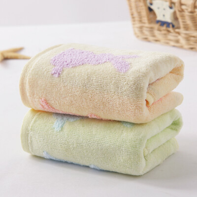 Gold towel home textile cotton towel gradient color flawless jacquard small towel two loaded blue red 48g strip 4824cm