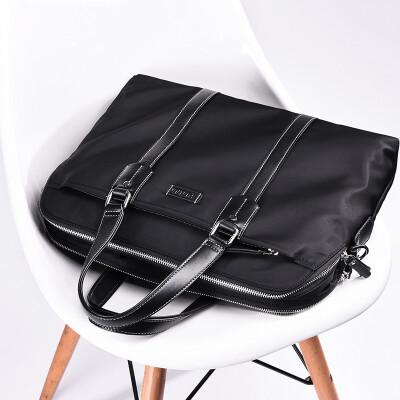 POLO Mens Fashion Oxford Cloth Briefcase Casual High Capacity Mens Handbag 041603 Blue