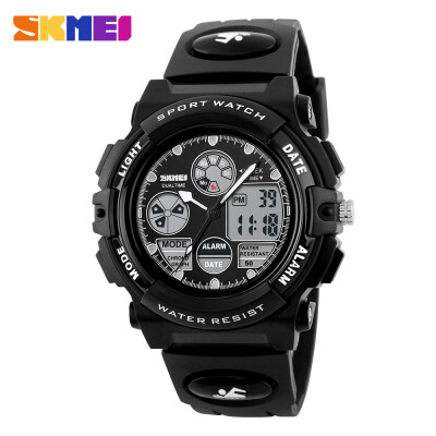 Mens Dual Time Zones Analog-Digital Alarm Chrono Light Sports Watch
