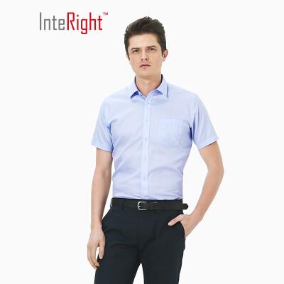 INTERIGHT 100 cotton machine washable ironing shirt business mens short sleeve white 41 yards