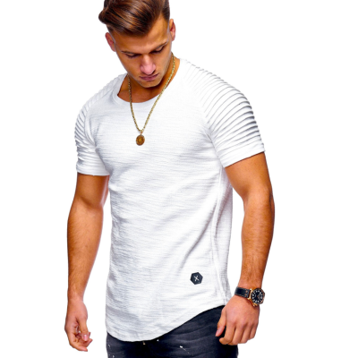 Summer Mens Casual T Shirt Cotton Short Sleeve O-Neck Silm Fit T-shirt Men Fashion Solid Color Tee Shirts Tops Clothing