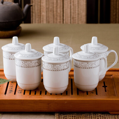 Jingdong supermarket] enjoy the cup to enjoy the cup of ceramic cups only installed Jingdezhen office meeting tea cups