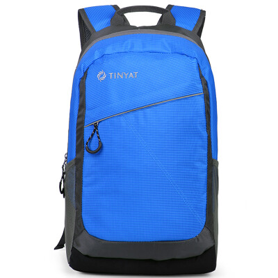 Tianyi (TINYAT) Shoulder Bag Men's Backpack Korean High School High School Student Bag Men Leisure Sports Travel Business Pack Outdoor Travel Sports Backpack T131 Blue