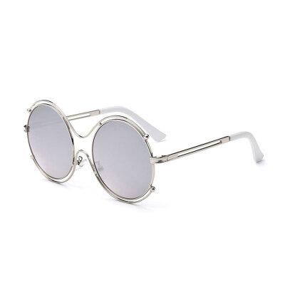 LIKEUS hollow out Fashion Sunglasses Women New Design Female Retro Lens glasses women round metal mirror sun glasses