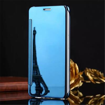 Samsung Galaxy J1J5J7 2016 Luxury Mirror View Mirror PU Cover Flip Smart Clear Window Phone Case