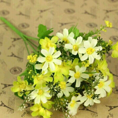Vanker Fashion Artificial Chrysanthemum Flowers Wedding Party Living Room Decor Bouquet Yellow