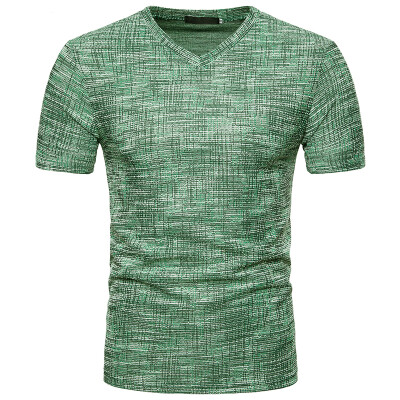 JCCHENFS 2018 Summer Fashion Brand Mens T-Shirts Cotton Linen Short Sleeve Blouse Casual V-neck Large Size T Shirt For Men