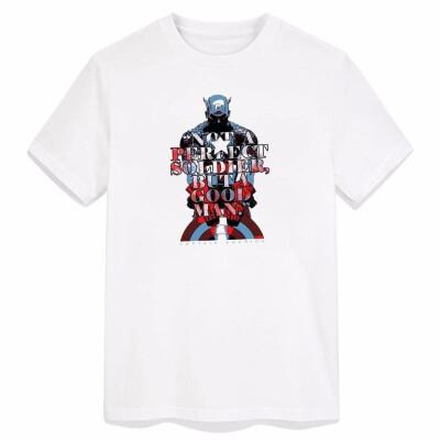 Captain American Comics Men T Shirt Superheroes Cotton Tshirt Avengers Pop Culture Clothing Animation Diy Customizatn T-shirt