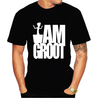 JCCHENFS 2018 Groot Design Summer Men T Shirt Cotton Short Sleeve Casual tshirt Cartoon Funny T Shirts For Men Black